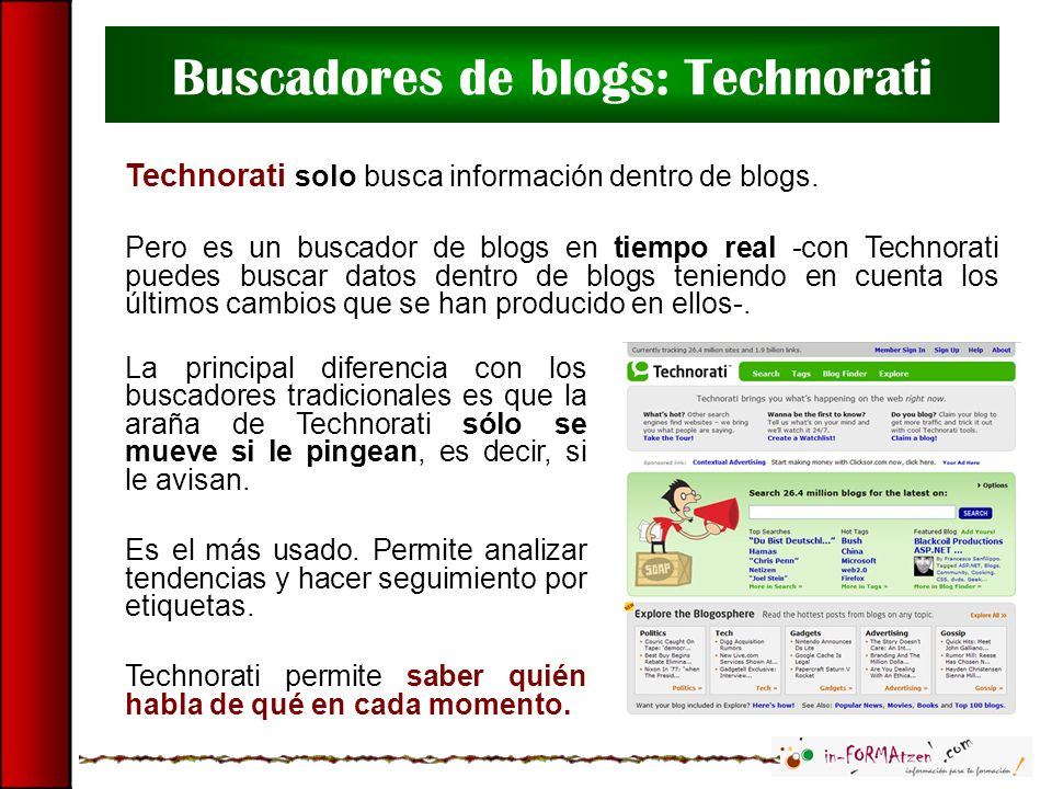 Buscadores de blogs: Technorati
