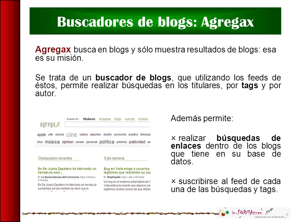 Buscadores de blogs: Agregax
