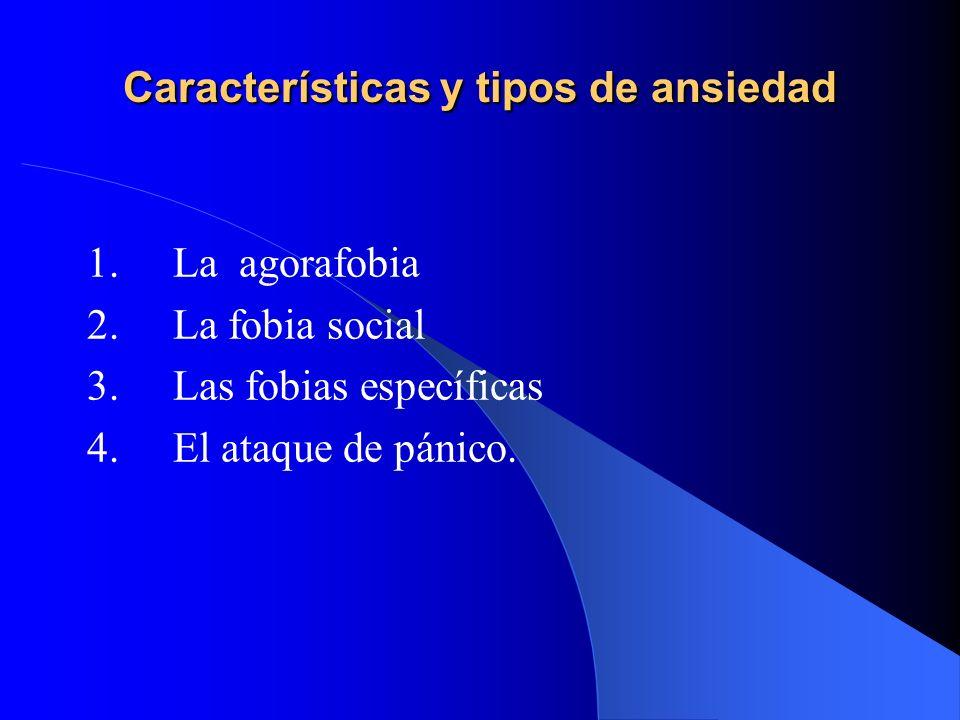 Características y tipos de ansiedad
