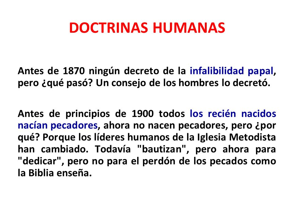 DOCTRINAS HUMANAS