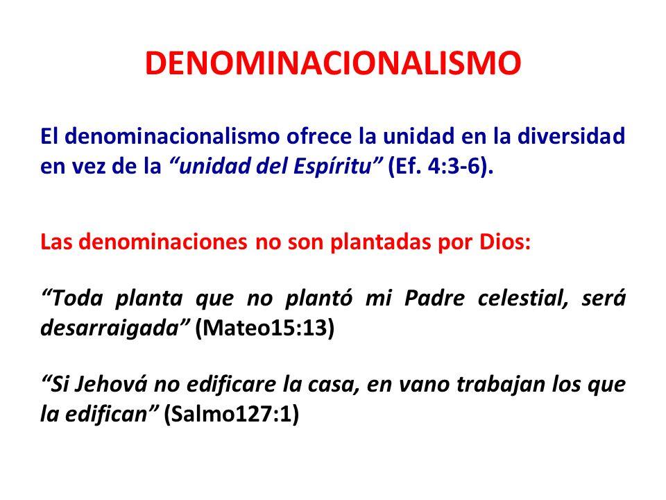DENOMINACIONALISMO