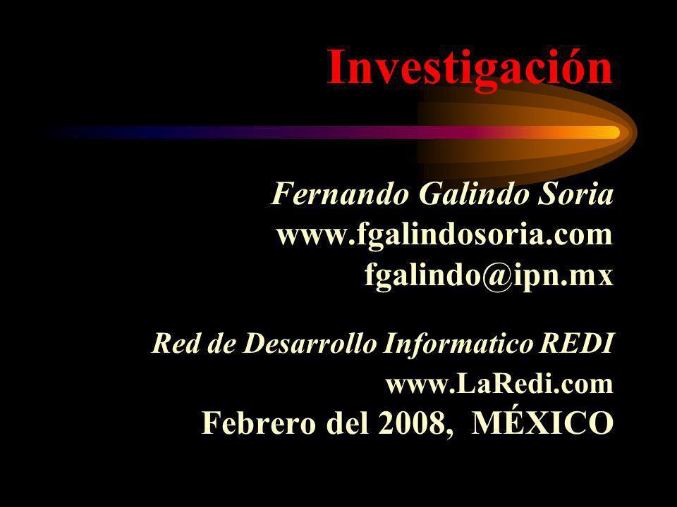 Investigación Fernando Galindo Soria www. fgalindosoria