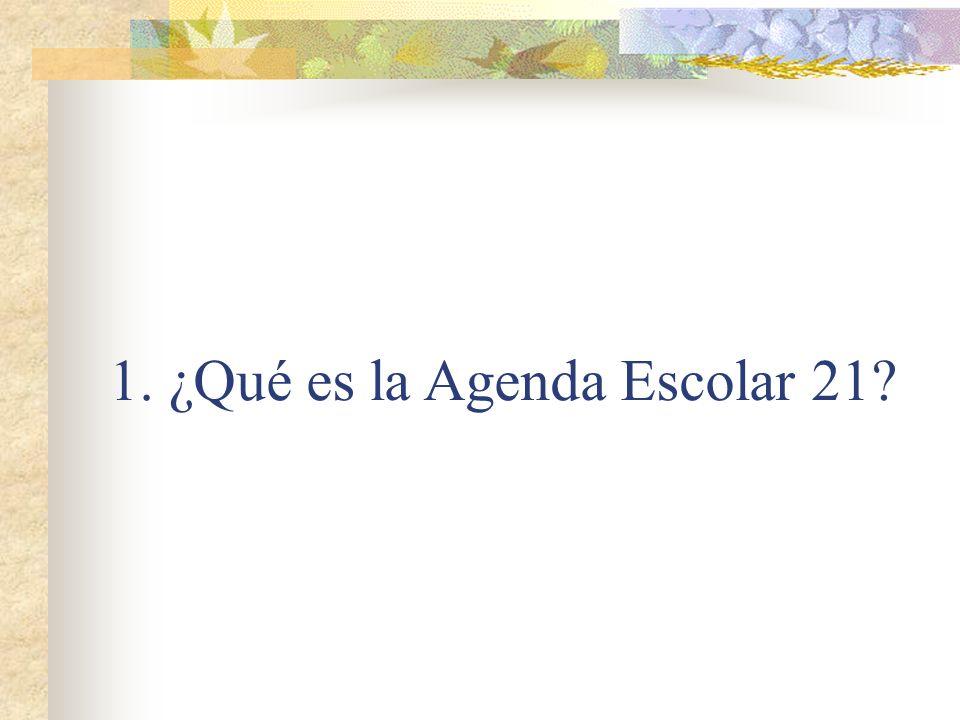 1. ¿Qué es la Agenda Escolar 21