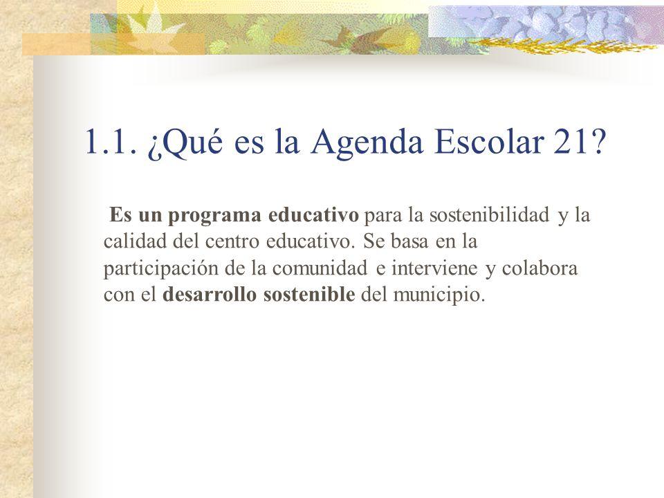 1.1. ¿Qué es la Agenda Escolar 21