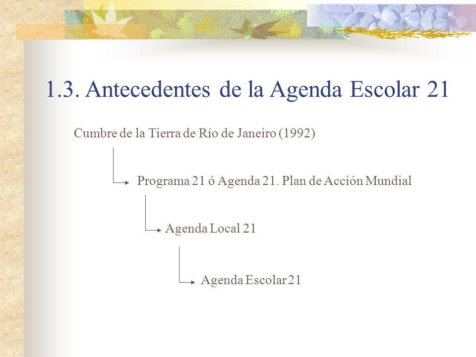 1.3. Antecedentes de la Agenda Escolar 21