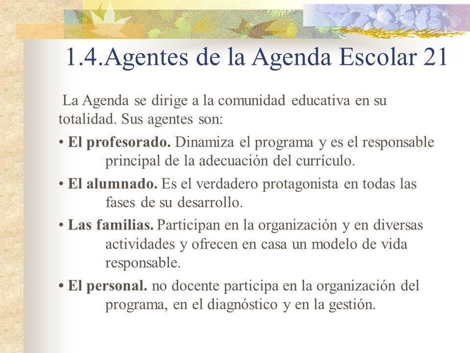 1.4.Agentes de la Agenda Escolar 21