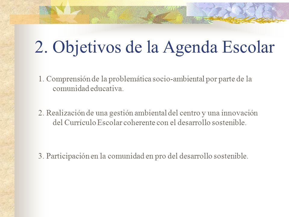 2. Objetivos de la Agenda Escolar