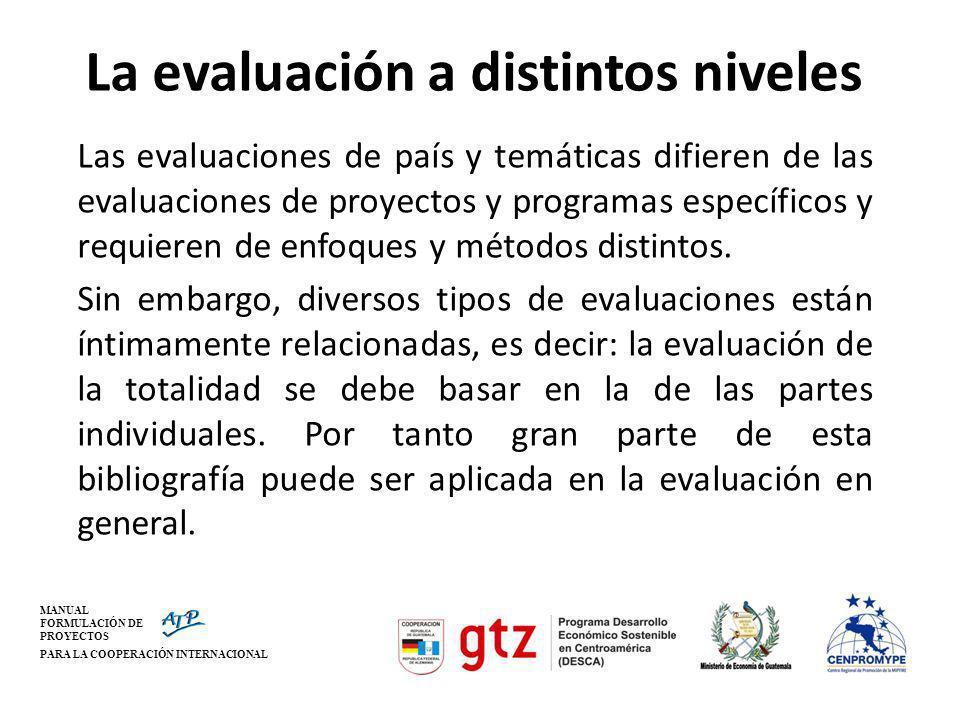 La evaluación a distintos niveles