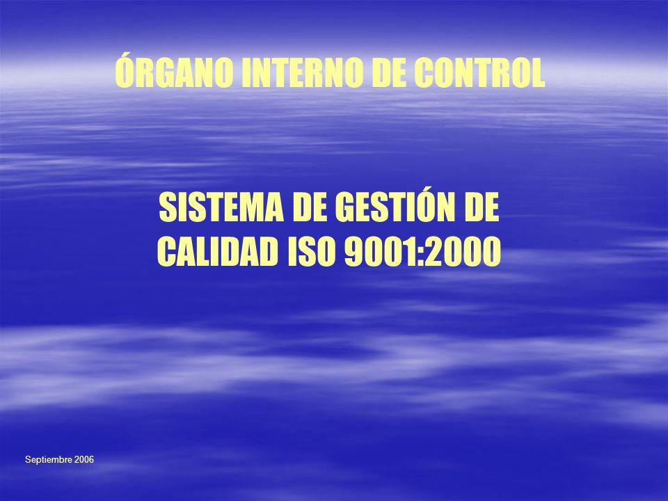 SISTEMA DE GESTIÓN DE CALIDAD ISO 9001:2000