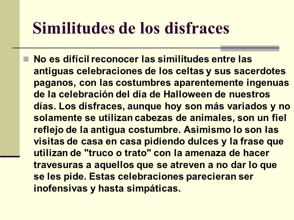 Similitudes de los disfraces