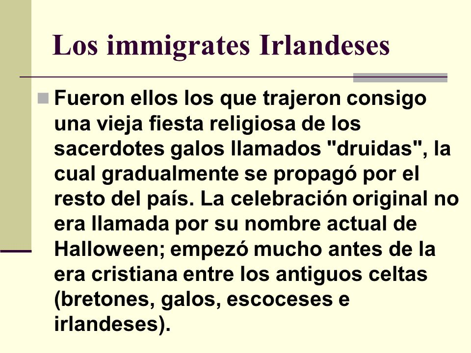 Los immigrates Irlandeses