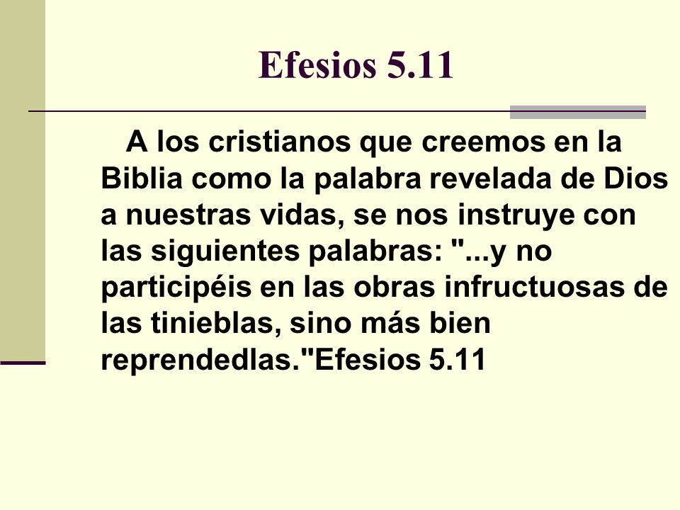 Efesios 5.11