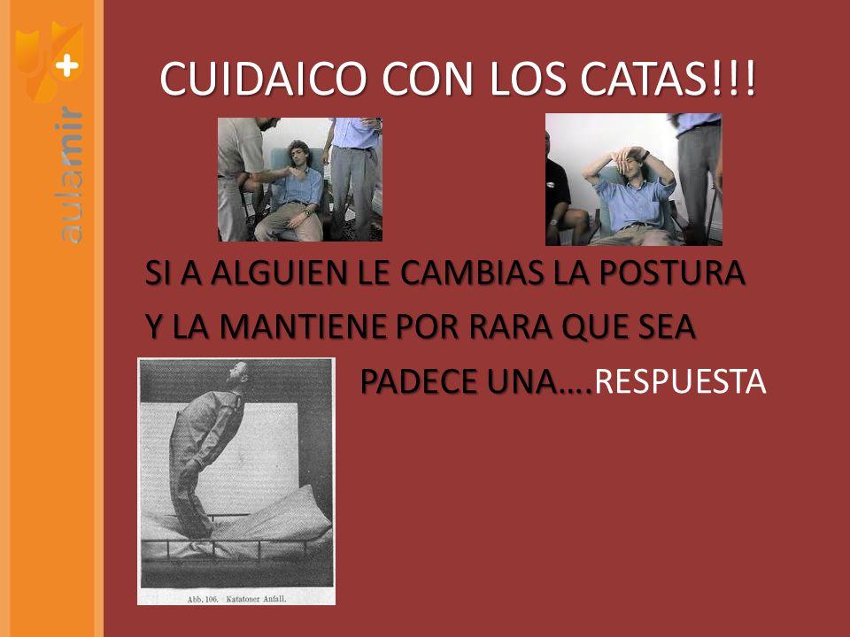 CUIDAICO CON LOS CATAS!!!SI A ALGUIEN LE CAMBIAS LA POSTURA Y LA MANTIENE POR RARA QUE SEA PADECE UNA….RESPUESTA