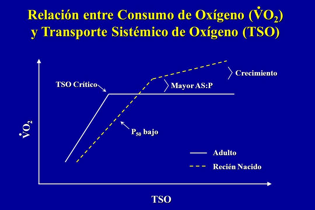 Relación entre Consumo de Oxígeno (VO2) y Transporte Sistémico de Oxígeno (TSO)