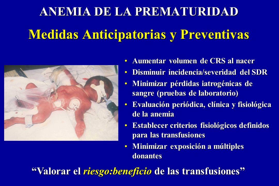 ANEMIA DE LA PREMATURIDAD Medidas Anticipatorias y Preventivas