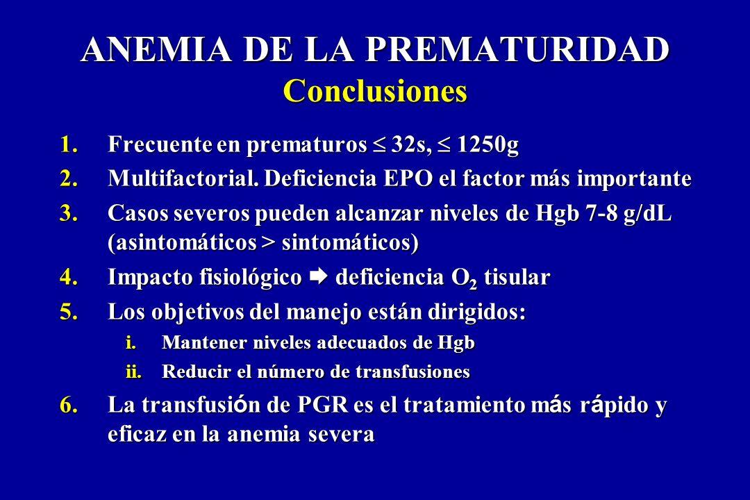 ANEMIA DE LA PREMATURIDAD Conclusiones
