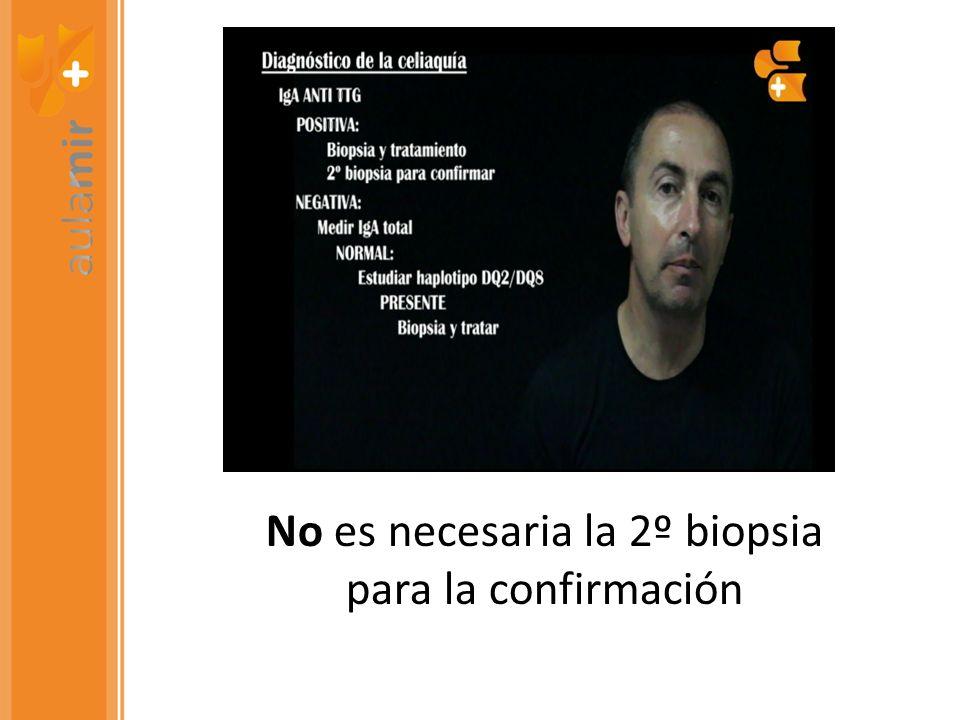 No es necesaria la 2º biopsia para la confirmación