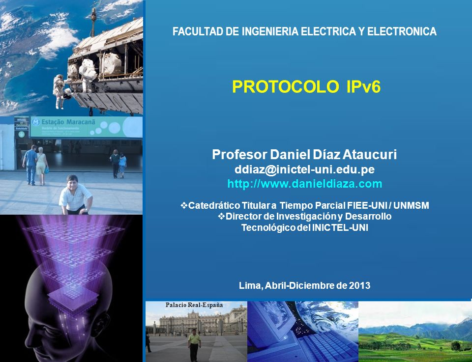 PROTOCOLO IPv6 Profesor Daniel Díaz Ataucuri