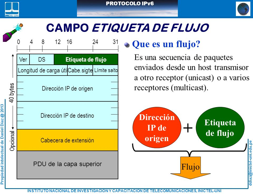 CAMPO ETIQUETA DE FLUJO
