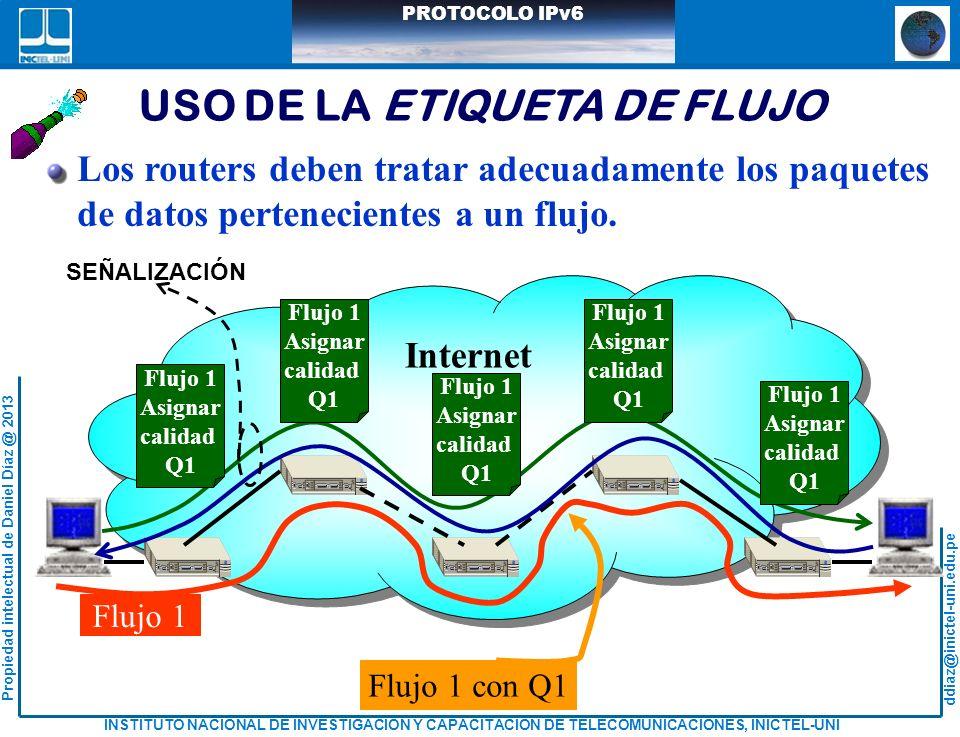 USO DE LA ETIQUETA DE FLUJO
