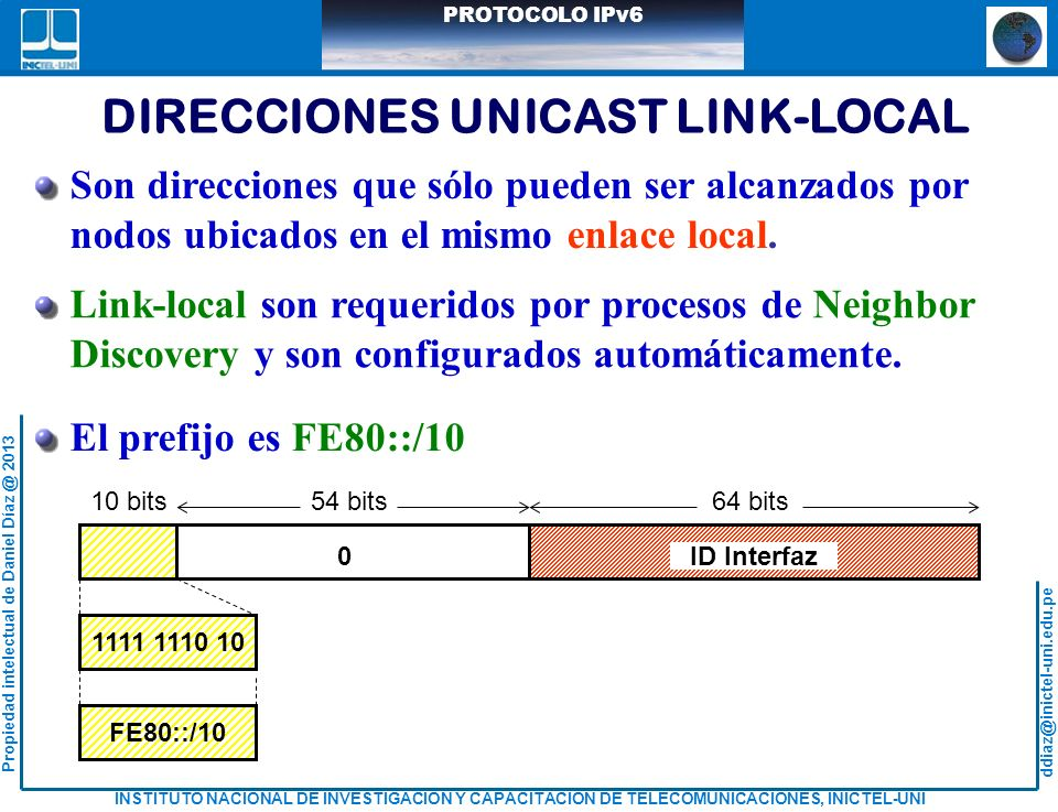 DIRECCIONES UNICAST LINK-LOCAL