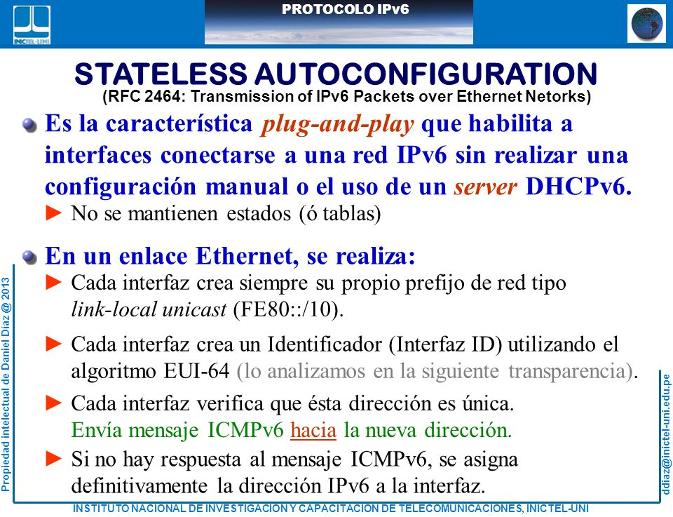 STATELESS AUTOCONFIGURATION