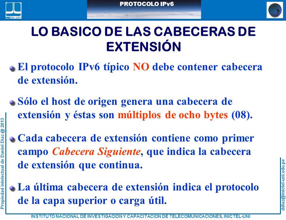 LO BASICO DE LAS CABECERAS DE EXTENSIÓN