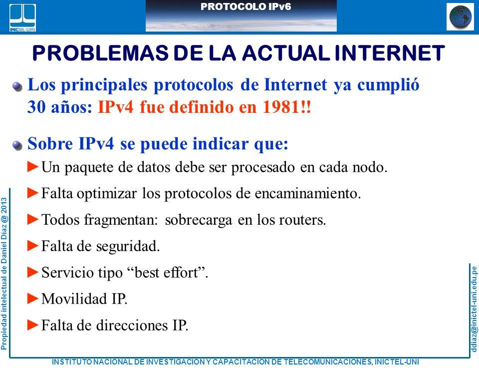 PROBLEMAS DE LA ACTUAL INTERNET