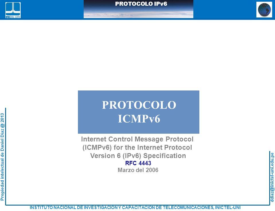PROTOCOLO ICMPv6 Internet Control Message Protocol