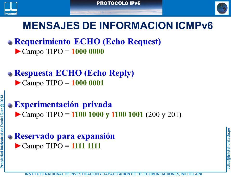 MENSAJES DE INFORMACION ICMPv6