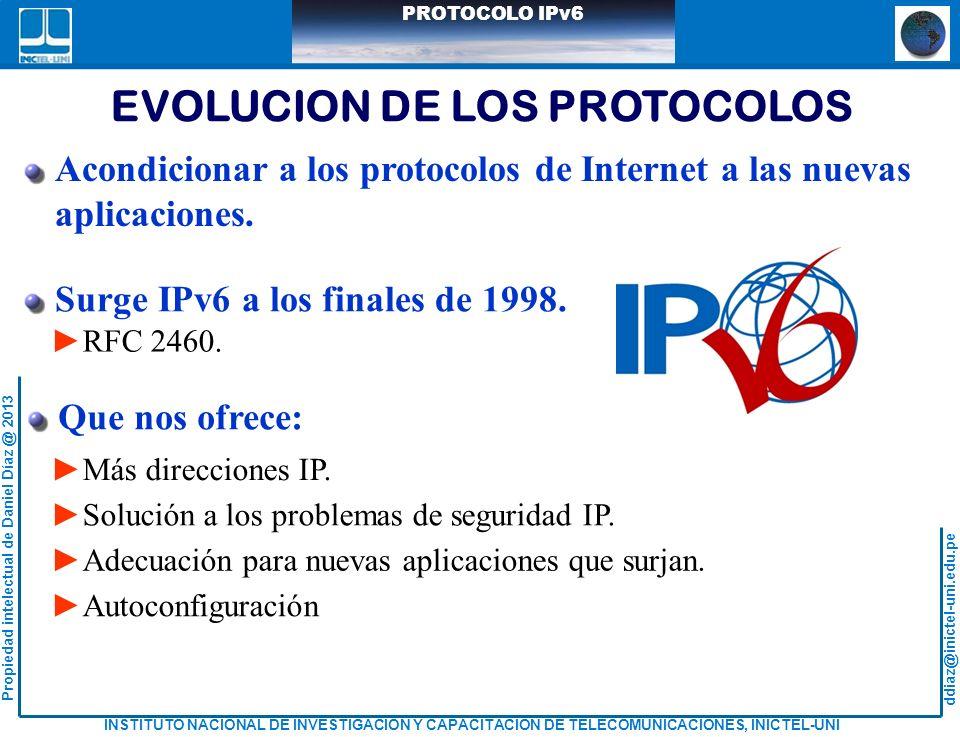 EVOLUCION DE LOS PROTOCOLOS