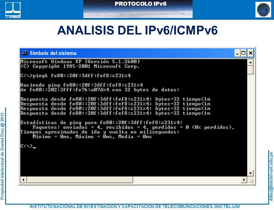 ANALISIS DEL IPv6/ICMPv6