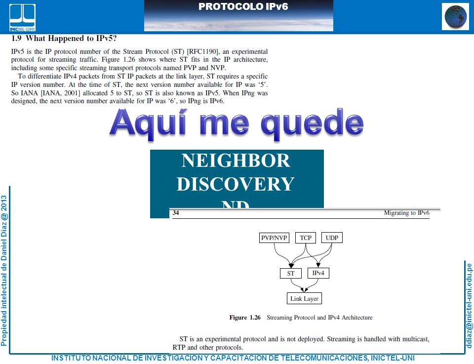 Aquí me quede NEIGHBOR DISCOVERY -ND- RFC 4861