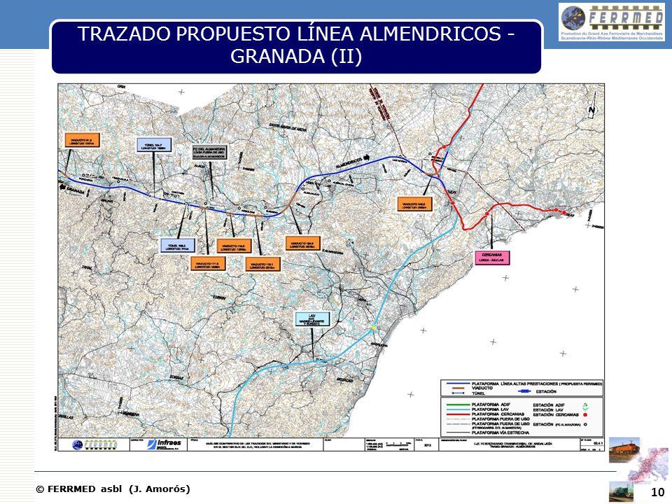 TRAZADO PROPUESTO LÍNEA ALMENDRICOS - GRANADA (II)