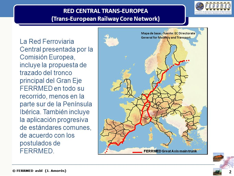 RED CENTRAL TRANS-EUROPEA (Trans-European Railway Core Network)