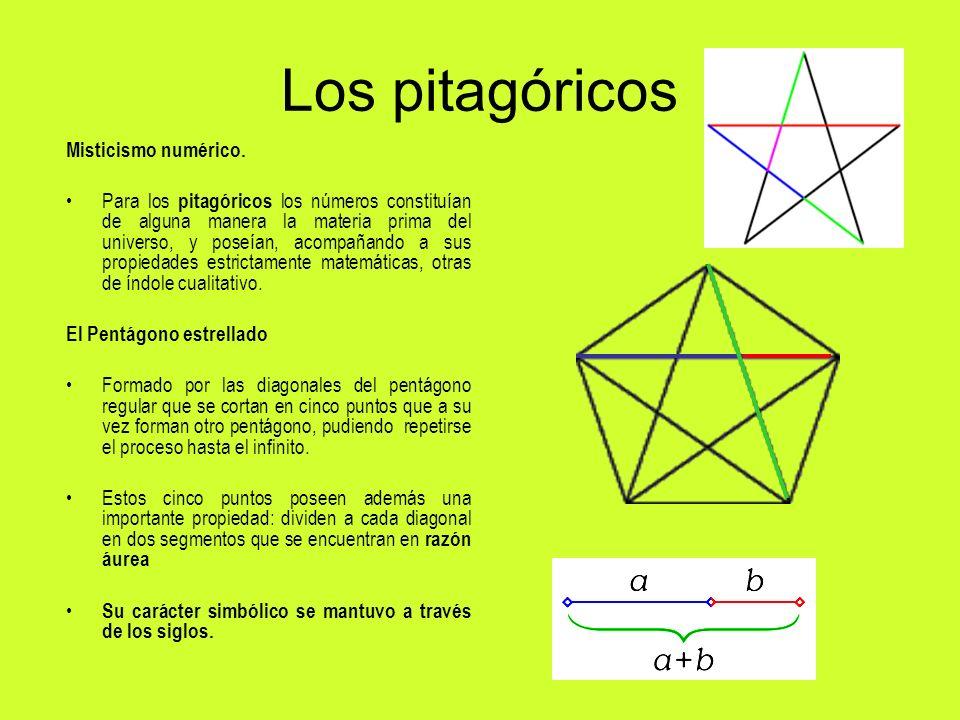 Los pitagóricos Misticismo numérico.