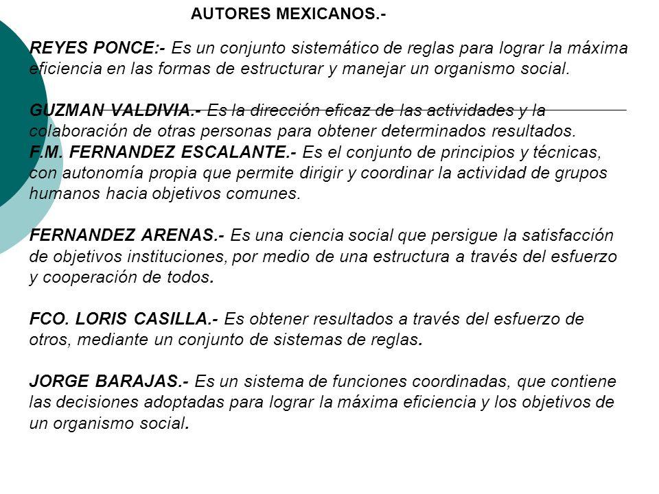 AUTORES MEXICANOS.-