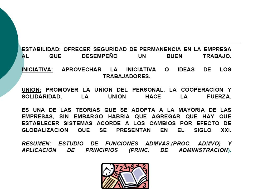 ESTABILIDAD: OFRECER SEGURIDAD DE PERMANENCIA EN LA EMPRESA AL QUE DESEMPEÑO UN BUEN TRABAJO.