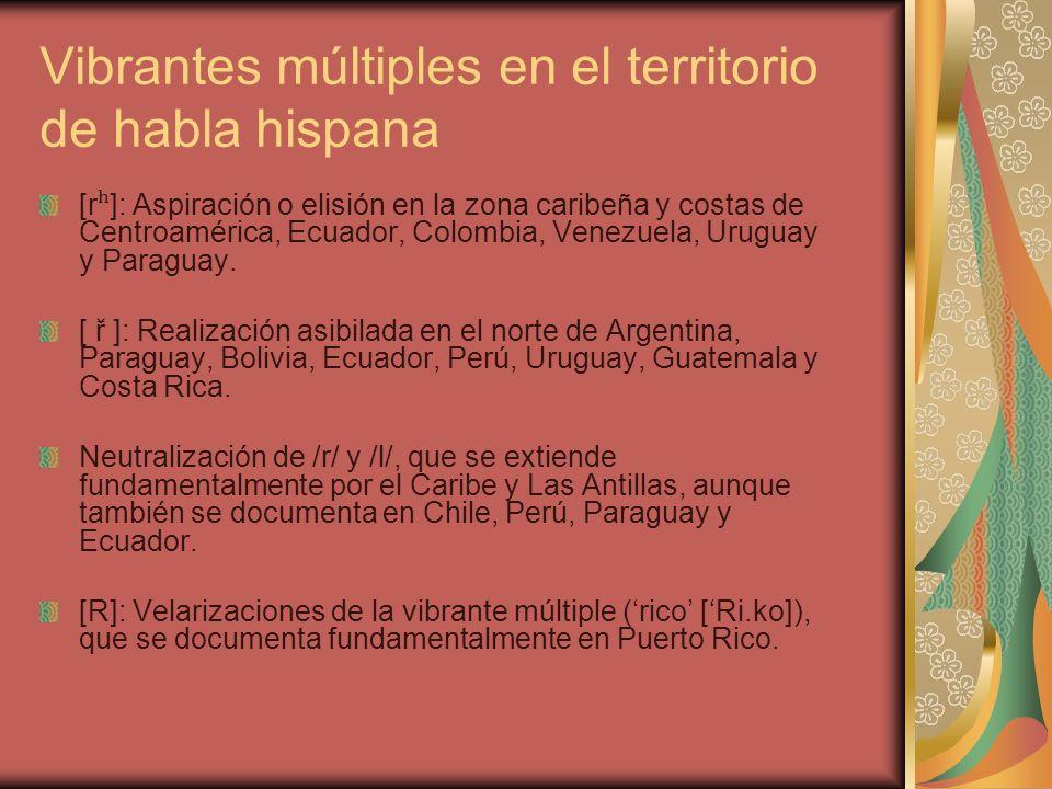 Vibrantes múltiples en el territorio de habla hispana