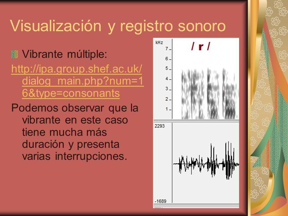 Visualización y registro sonoro