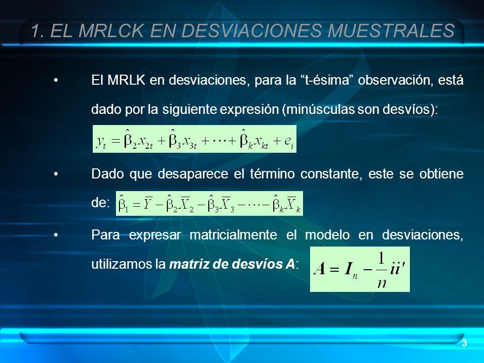 1. EL MRLCK EN DESVIACIONES MUESTRALES