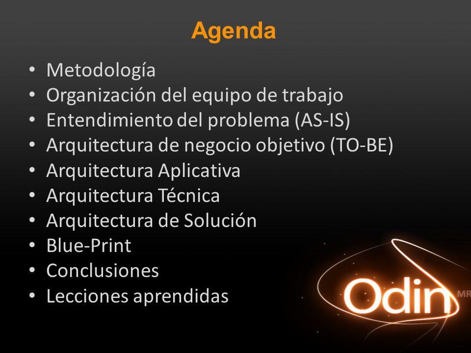 Agenda Metodología Organización del equipo de trabajo
