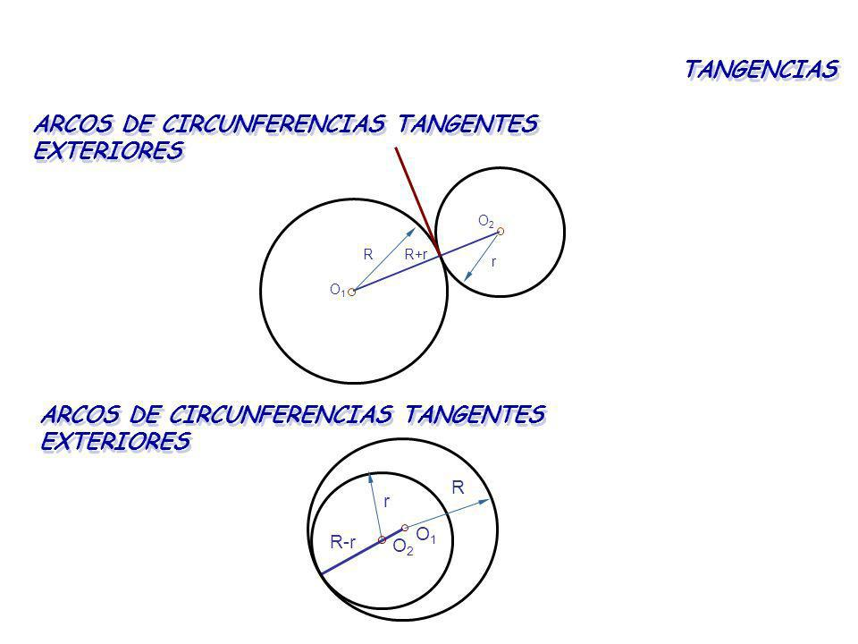 ARCOS DE CIRCUNFERENCIAS TANGENTES EXTERIORES