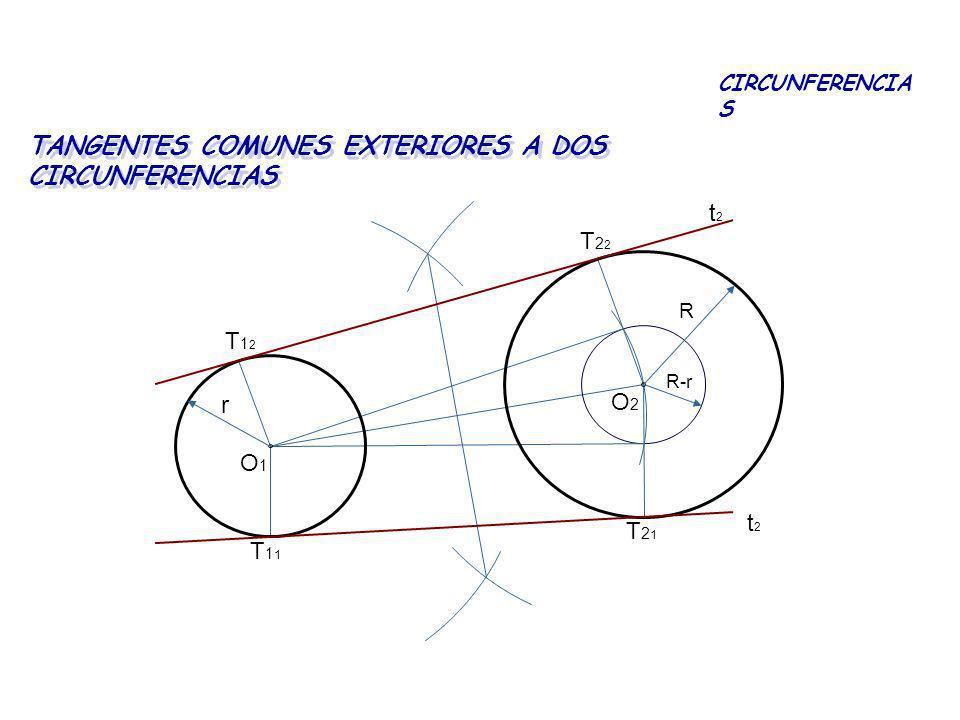 TANGENTES COMUNES EXTERIORES A DOS CIRCUNFERENCIAS