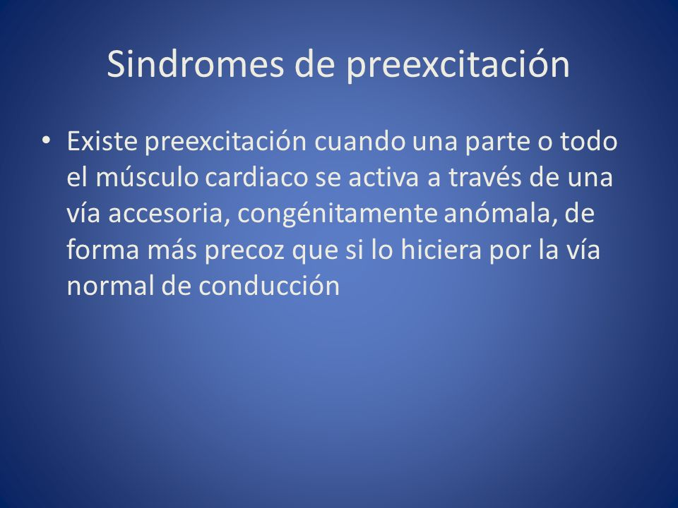 Sindromes de preexcitación