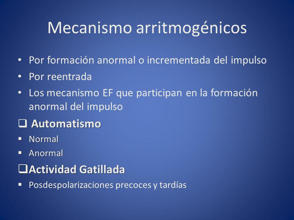 Mecanismo arritmogénicos
