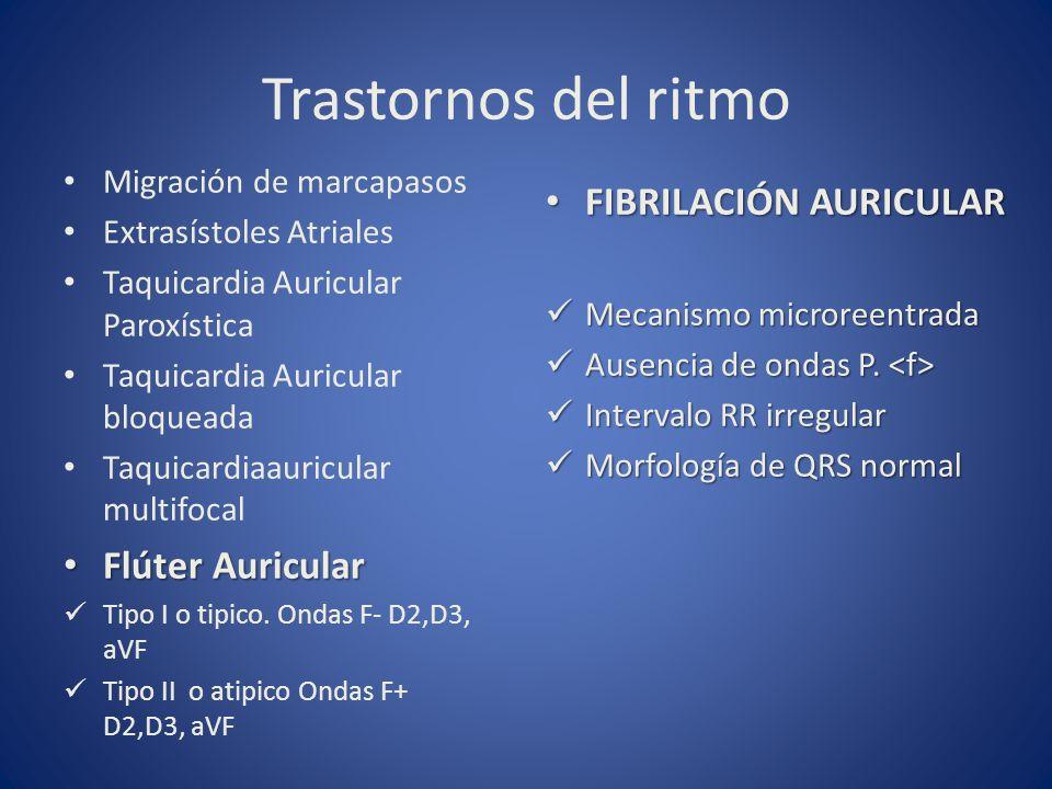Trastornos del ritmo FIBRILACIÓN AURICULAR Flúter Auricular