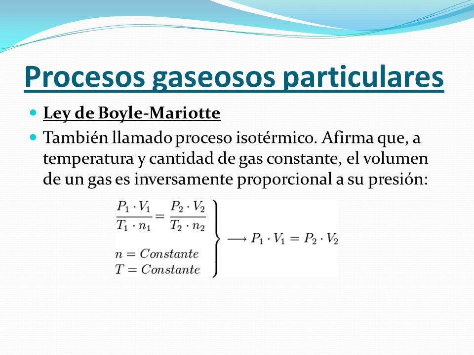 Procesos gaseosos particulares