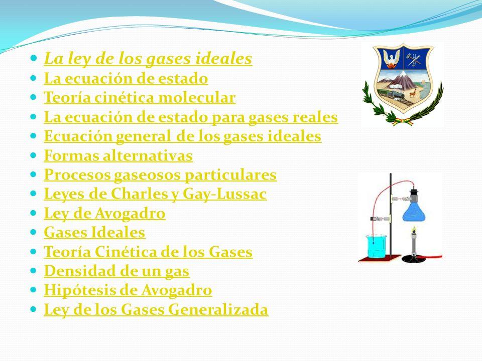 La ley de los gases ideales