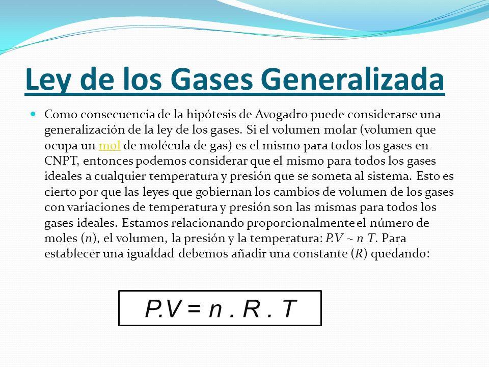 Ley de los Gases Generalizada